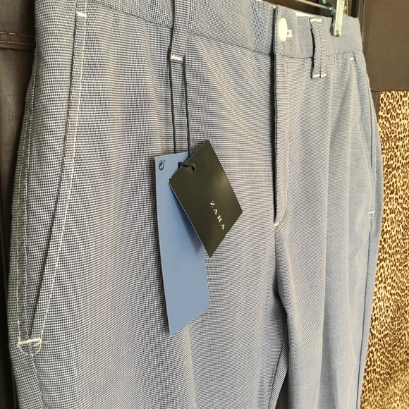 83552304 Zara Pants | Nwt Man Straight Cut Summer Weight Sz31 | Poshmark